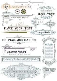 Vintage Decor Elements Free Vector Cdr