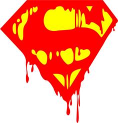 Bleeding Superman Logo Vector Free Vector Cdr