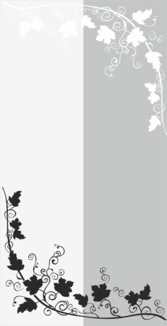 Branch With Leaves And Vine Sandblast Pattern Free Vector Cdr