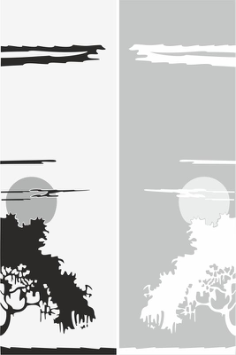 Abstract Scene Sandblast Pattern Free Vector Cdr