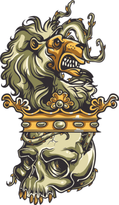 Skull Lion Print Free Vector Cdr
