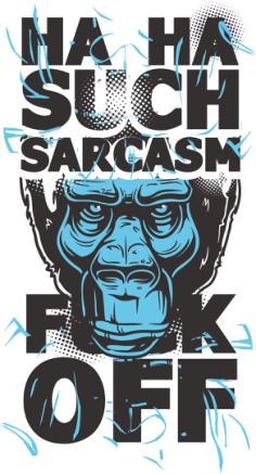 Sarcasm Print Free Vector Cdr