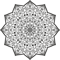 Luxury Mandala Design Free Vector Cdr