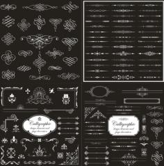 Vector calligraphic design elements Free Vector Cdr