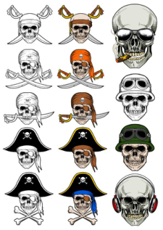 Pirate Skull Vectors Free Vector Cdr