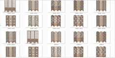 Decorative Panel Screens Free Vector Cdr