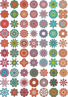 Ornamental colorful vector mandala Free Vector Cdr