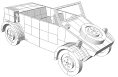 Kubelwagen Vector for laser cutting CNC Free Vector Cdr