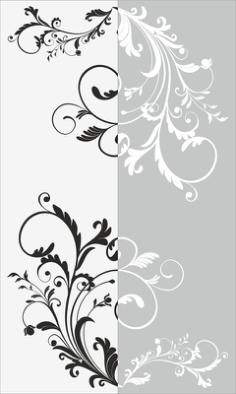 Decorative Floral Pattern Sandblast Pattern Free Vector Cdr