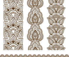 Free download of Indian Mehndi Design vector Free Vector Cdr
