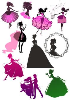 Wall Decal Sticker Princess Girl Beautiful Cinderella Free Vector Cdr