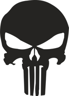 Punisher Skull Stencil Vector Free Vector Cdr