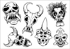 Ritual Masks Vectors Free Vector Cdr