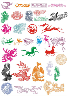 Ancient Pattern Vector Set Free Vector Cdr