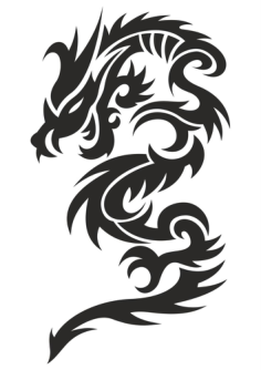 Tattoo Dragon Vector Illustration Free Vector Cdr