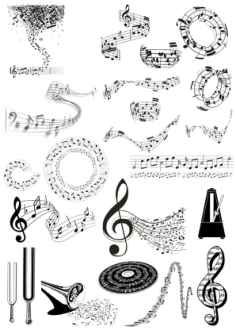 Music Notes Free Vector Cdr