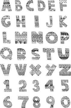 Handdrawn Ornamented Alphabet Pack Free Vector Cdr