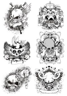 Horrible Skulls Free Vector Cdr