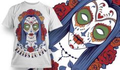 Fleurs du Mal Free T-shirt Design Vector Free Vector Cdr