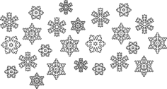 Snowflake Vectors Free Vector Cdr