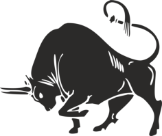 Bull silhouette vector Free Vector Cdr