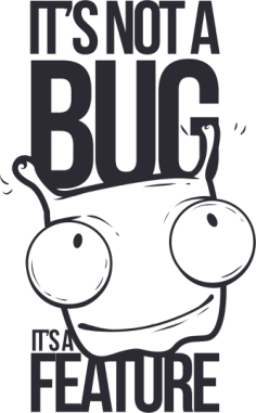 Not A Bug T Shirt Design Free Vector Cdr