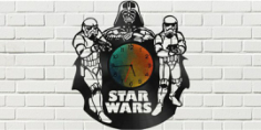 Star Wars Clock Plans Darth Vader Stormtrooper Free Vector Cdr