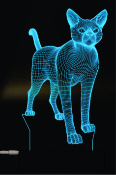 Cat 3D Lamp Vector Model Free Vector Cdr