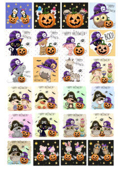 Cute Halloween Character Collection Free Vector Cdr