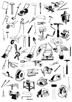 Tools Icons Set Sketch Vector Art Free Vector Cdr