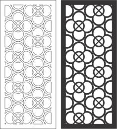 Wall Decor Panels Modern Free Vector Cdr