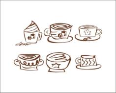 矢量咖啡标识 Free Vector Cdr