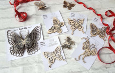 Decor Butterfly CNC Laser Free Vector Cdr