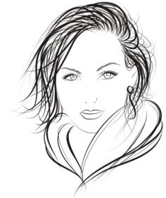Face of Pretty Woman Logo Vector Free Vector Cdr