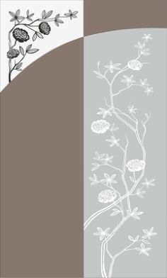 Flowers Bush Sandblast Pattern Free Vector Cdr