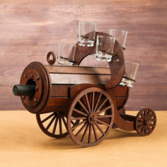 Mini bar wooden Cannon Free Vector Cdr