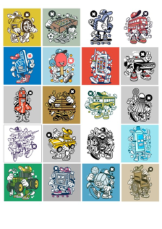 Stikers Set 5 Free Vector Cdr