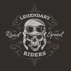 Legendary Riders Print Free Vector Cdr