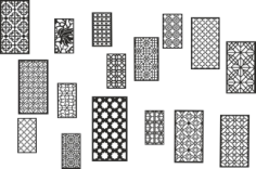 Collection Black White Geometric Seamless Patterns Free Vector Cdr