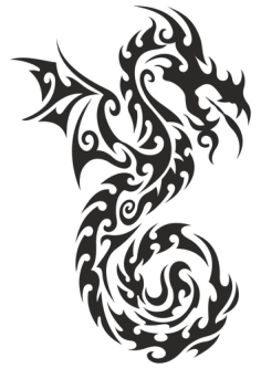 Dragon totem Tattoo Sticker Vector Free Vector Cdr