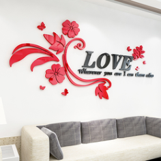 Wall Decals For Living Room Letter Flower Free Vector Cdr