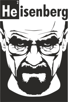 Heisenberg Print Vector Free Vector Cdr