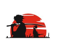 Samurai Vinyl Car Sticker Free Vector Cdr
