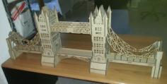 London Bridge 3D Puzzle Model Laser Cut Free Vector Cdr