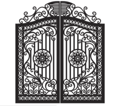 Plasma Cut Gate Design Free Vector Cdr