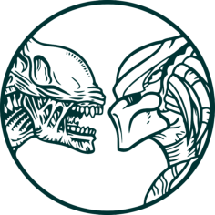 Vector Alien vs predator wall decals Free Vector Cdr