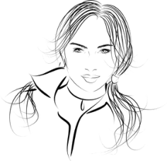 Long Haired Beautiful Woman Vector Free Vector Cdr