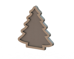 MDF Christmas tree Free Vector Cdr