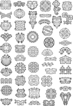 Celtic Ornaments Vector Pack Free Vector Cdr