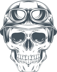 Skull Helmet Vector Free Vector Cdr